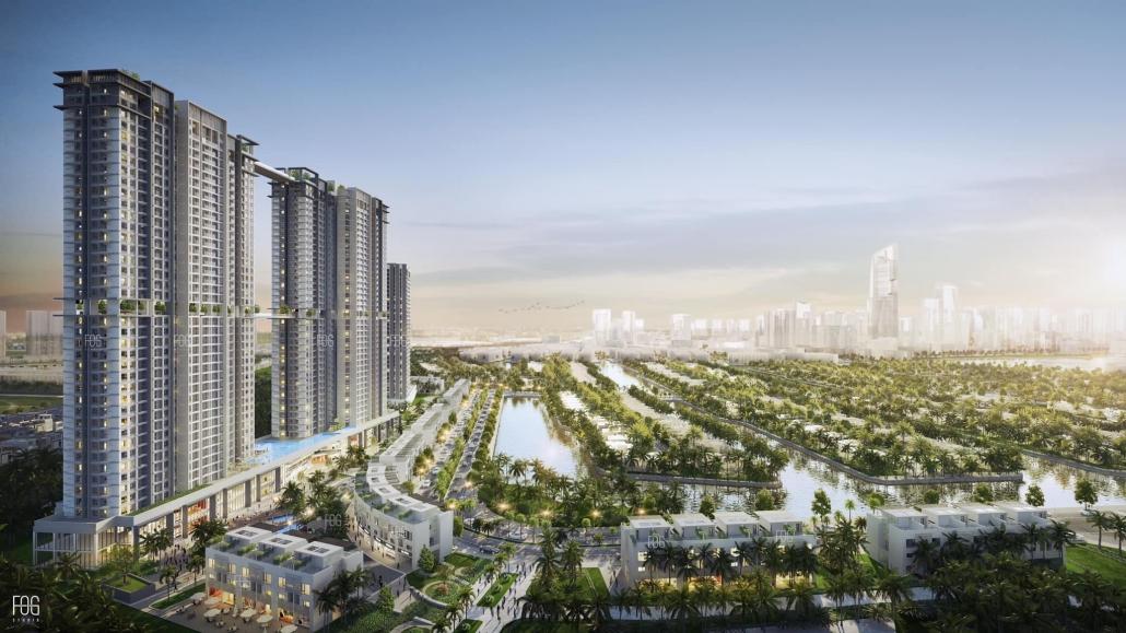chung cư mới tháp đôi 41 tầng tại ecopark