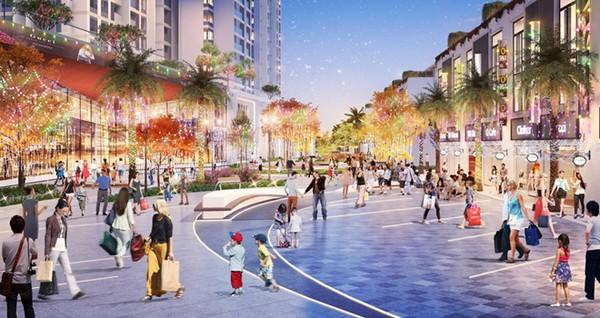 cư dân chung cư sol forest mua sắm tại phố đi bộ