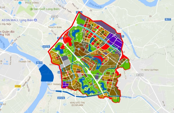 Vị trí mở rộng khu đô thị ecopark nằm tại huyện gia lâm hà nội