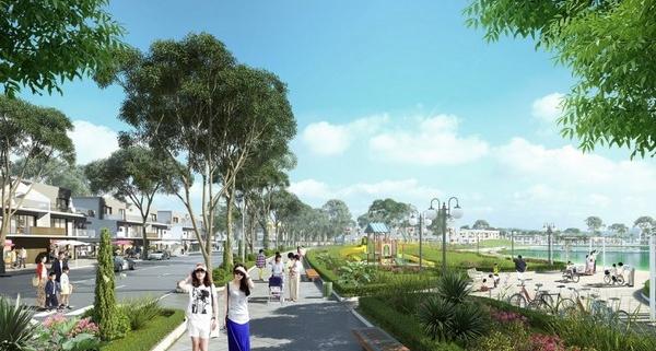 vị trí nhà phố quảng trường marnia trong Ecopark