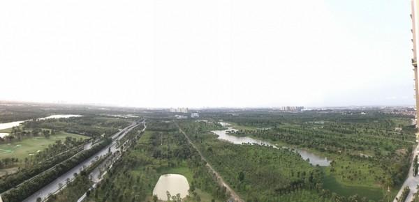 sân gôn 18 lỗ ecopark nhìn từ trên cao