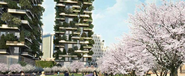 phối cảnh 3 tòa tháp chung cư sol forest tại ecopark